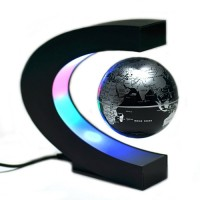 c shape magnetic levitation floating globe world map