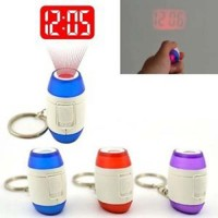 laser projector clock with keychain