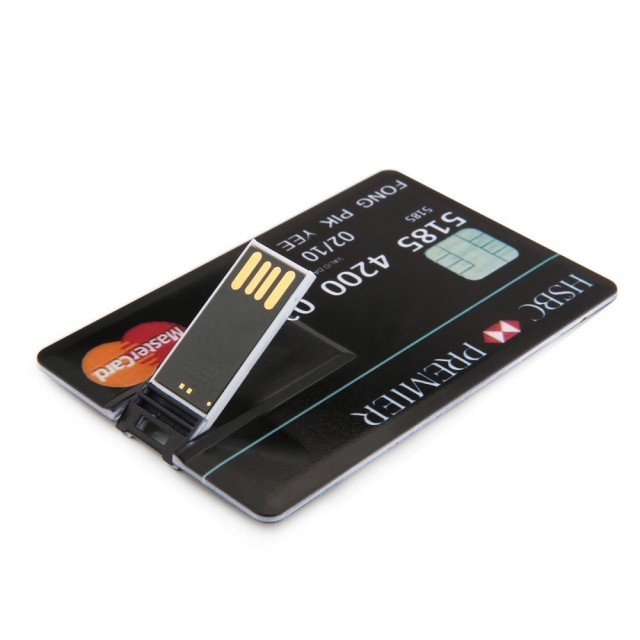credit card model 32gb memory stick flash