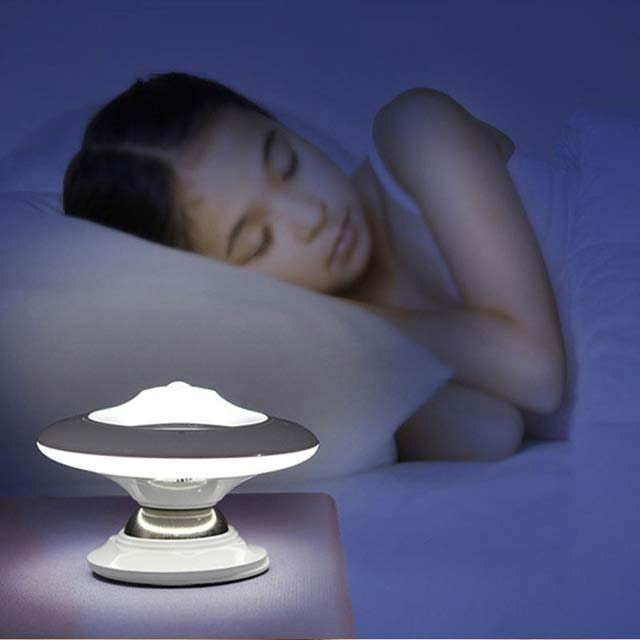 360°Rotation Motion Sensor Light Control LED UFO NightlightWall Lamp