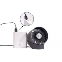 Mini USB Metal Table Fan,Touch Switch with Smart Sensor 2 Speed
