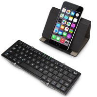Foldable Bluetooth keyboard, aluminum cover, for smartphones and tablets