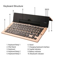 Foldable Bluetooth Keyboard For Apple iPad iPhone IOS, Andriod, Windows