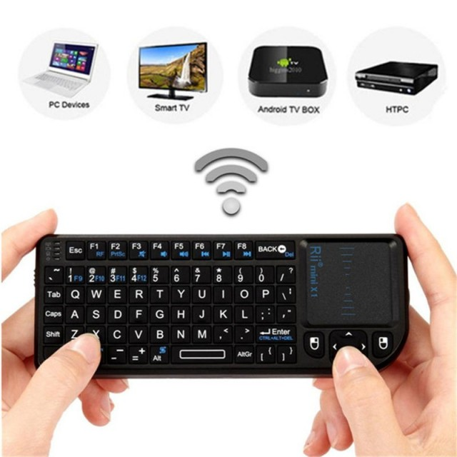 Wireless Keyboard mini With Touchpad Mouse for PC, Notebook, Smart TV, HTPC, Android TV BOX, etc