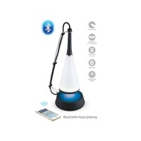 Touch sensor LED table lamp with phone PC mini speaker