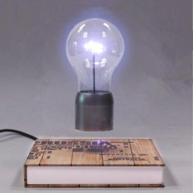 Levitating Lightning Bulb floats completely in mid-air