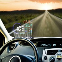 Car HUD Head Up Display OBD II 2 Speed Warning System Fuel Consumption