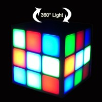 magic cube led bluetooth speaker