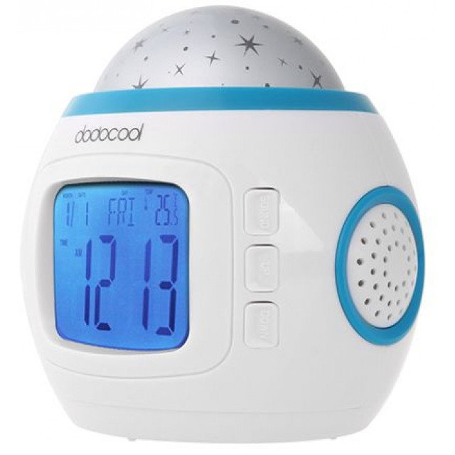 electronic music starry star sky projection alarm clock calendar